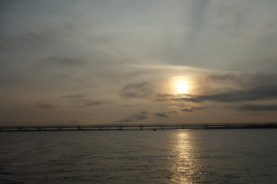 Cap au nord, à bord du ferry Bagan - Mandalay