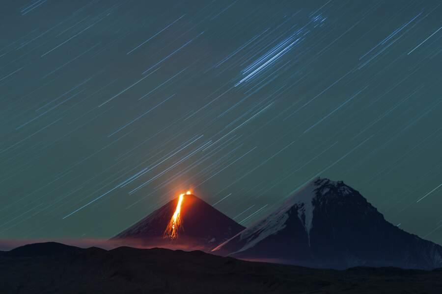 Eruption du Klyuchevskaya Sopka / Kamchatka, Russie