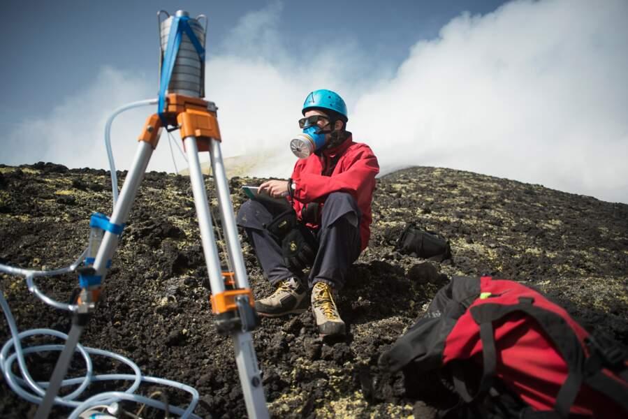 Prélèvements d'aérosols volcaniques