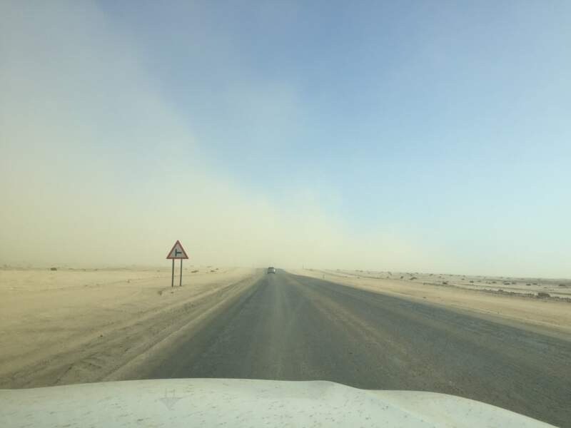 Tempête de sable en plein désert du Namib