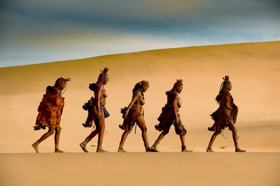 Femmes himbas, village d'Outaipi, Namibie