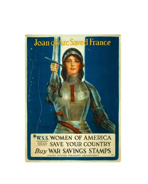 « Jeanne d'Arc sauva la France. Femmes américaines, sauvez votre pays.» Haskell Coffin. 1918, États-Unis