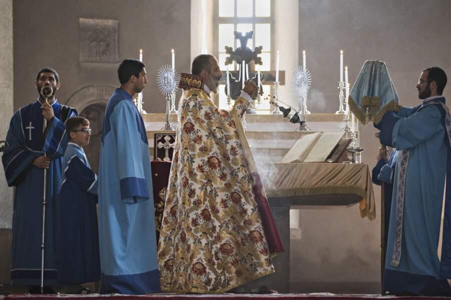 Liturgie dans la cathédrale de Chouchi