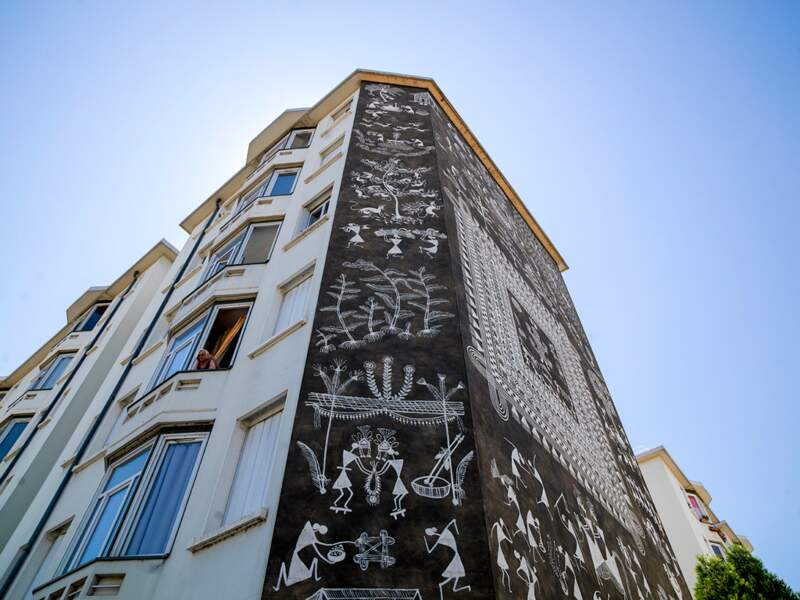 La Cité idéale de l'Inde par l'artiste Shantaram Tumbda