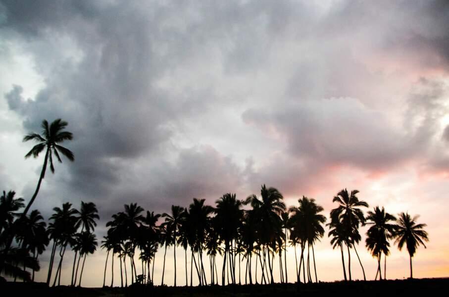 Ciel d'orage à Hawaï