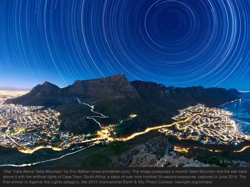 Table Moutain, dans la ville de Cape Town, en Afrique du Sud