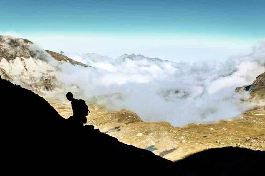 Photo prise au Pic de la Munia (frontière France-Espagne) par le GEOnaute : ThomasLhomme