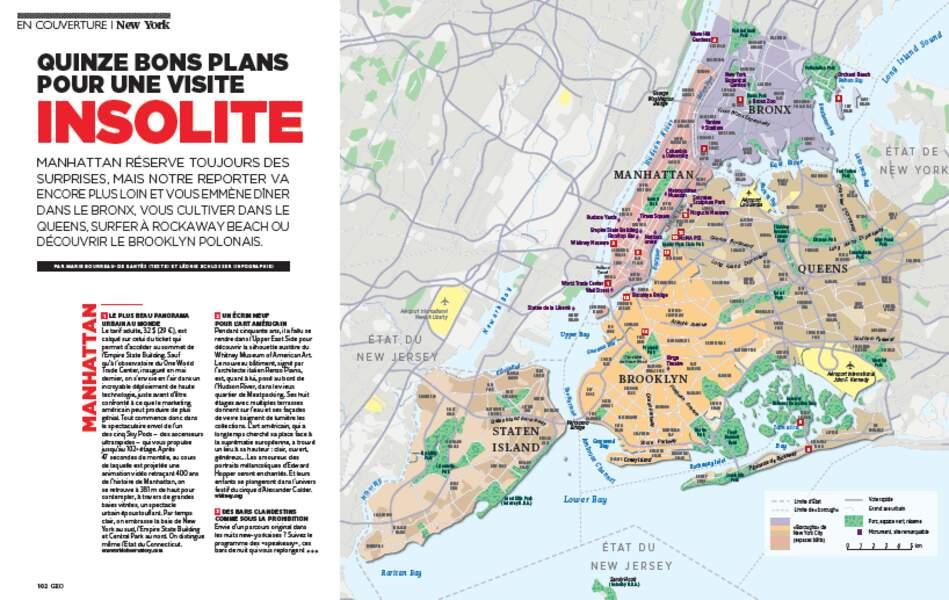 EN COUVERTURE : Quinze bons plans pour une visite insolite de New York