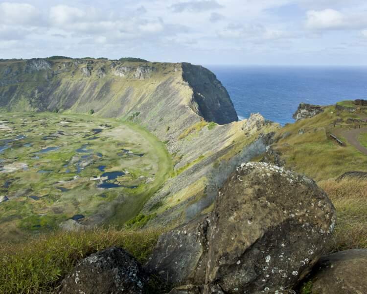 Vue panoramique sur l'île de Pâques