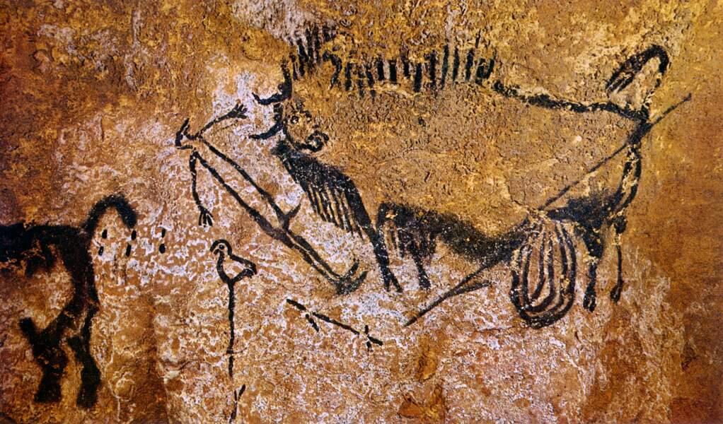 La scène du puits, 18 600 avant J-C, Grotte de Lascaux