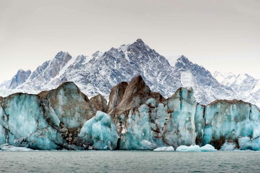 Impressionnant glacier