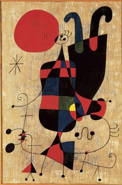 Personnages et chien devant le soleil, Joan Miró (1893-1983)