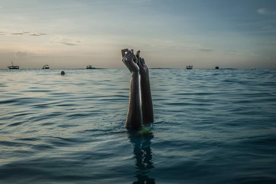 Le rituel de la tête sous l'eau