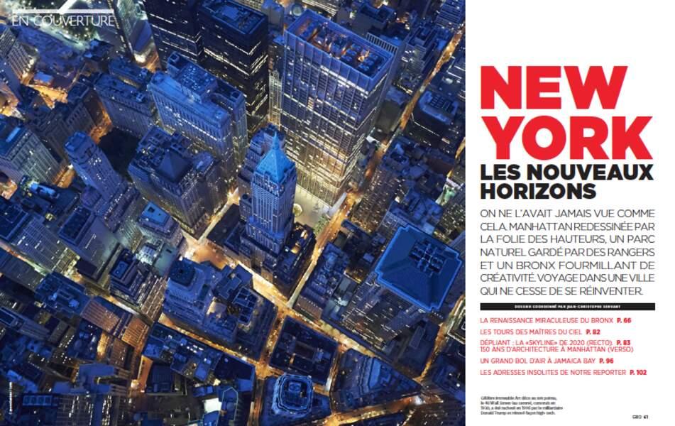 EN COUVERTURE : New York, les nouveaux horizons