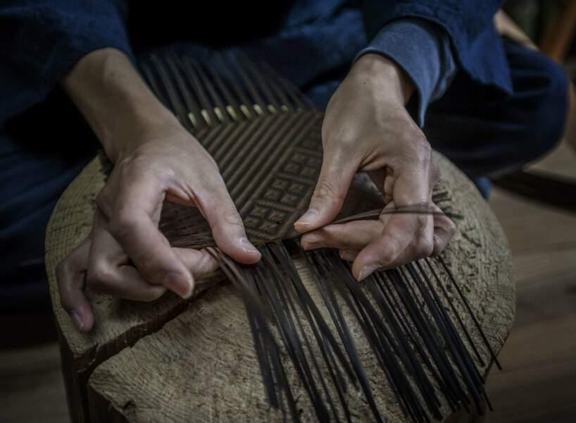 Le tressage de bambou