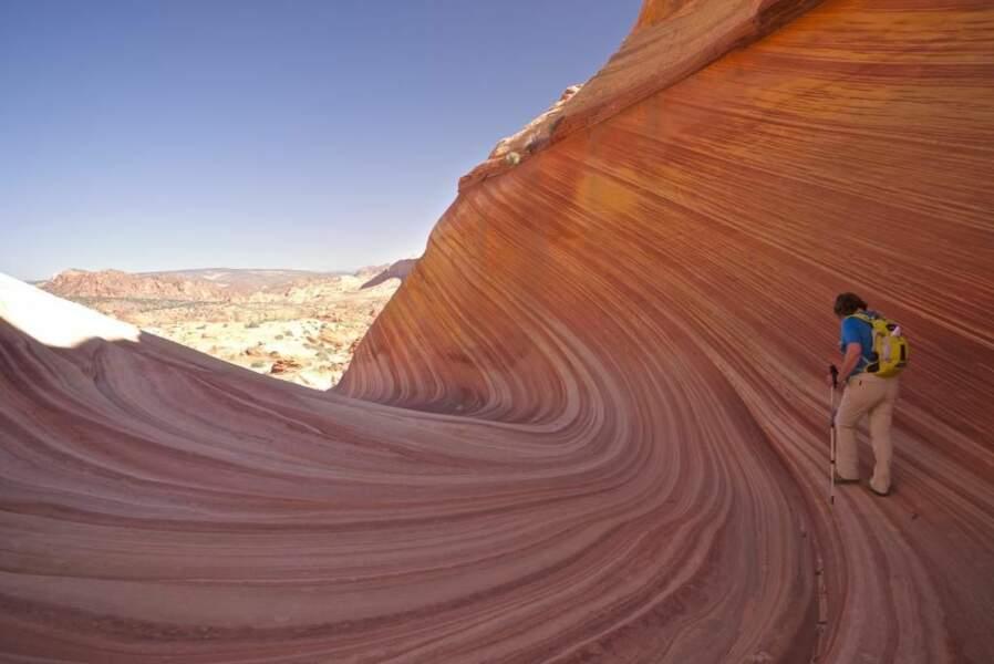 Photo prise sur le site The Wave entre Utah et Arizona (Etats-Unis) par sderain