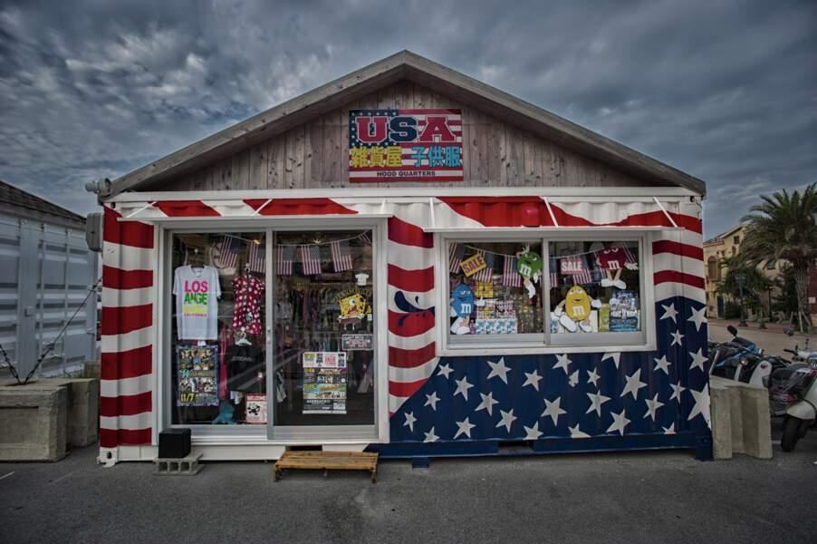 Magasin de produits US à Okinawa