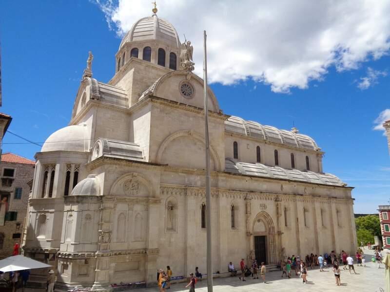 Cathédrale Saint-Jacques à Šibenik, en Croatie : la banque de Fer de Braavos (Iron Bank)