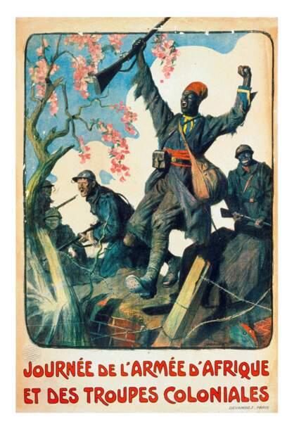 « Journée de l'armée d'Afrique. » Lucien Jonas. 1917, France