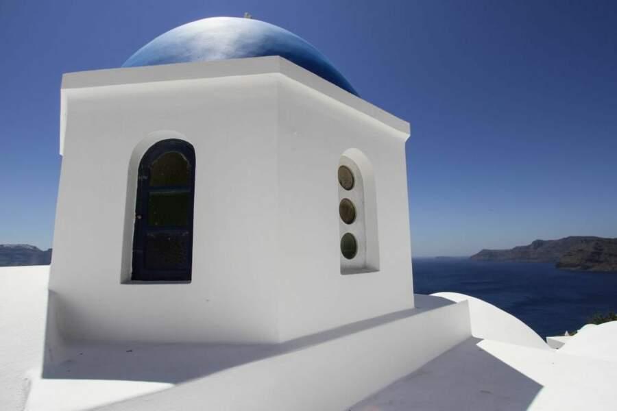 Photo prise à Oia, sur l'île de Santorin (Grèce) par le GEOnaute : nat77