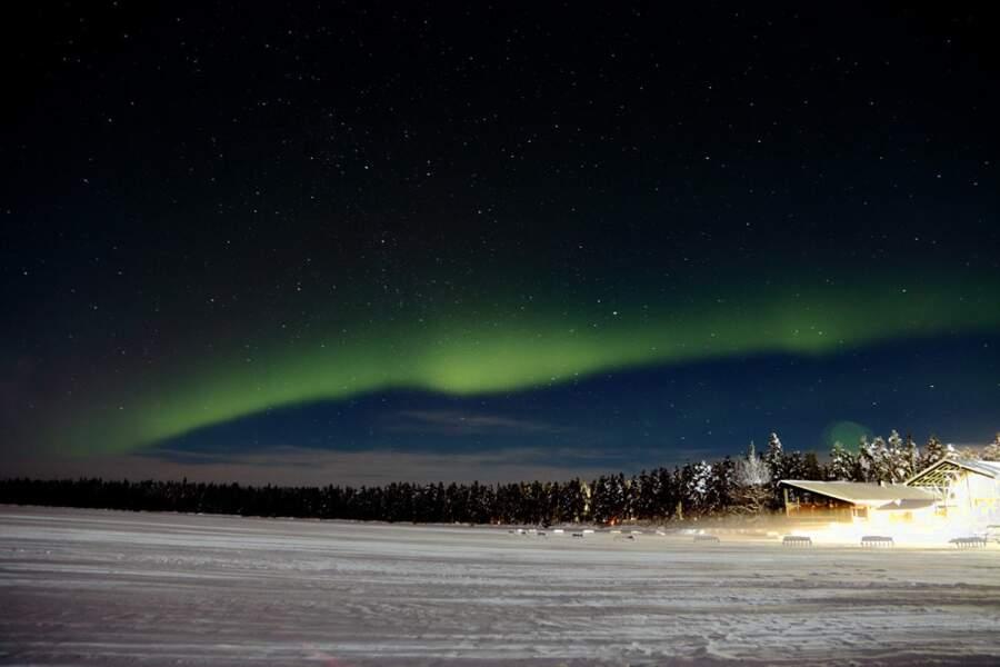 Aurore boréale en Laponie finlandaise