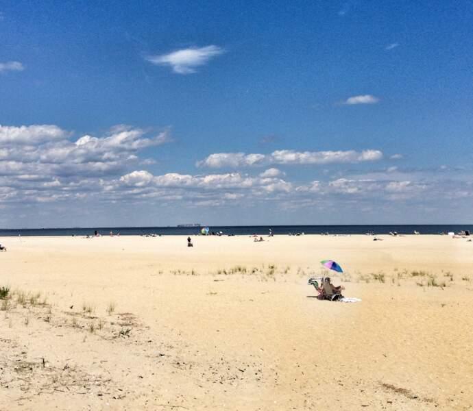 Les plages de Sandy Hook, New Jersey