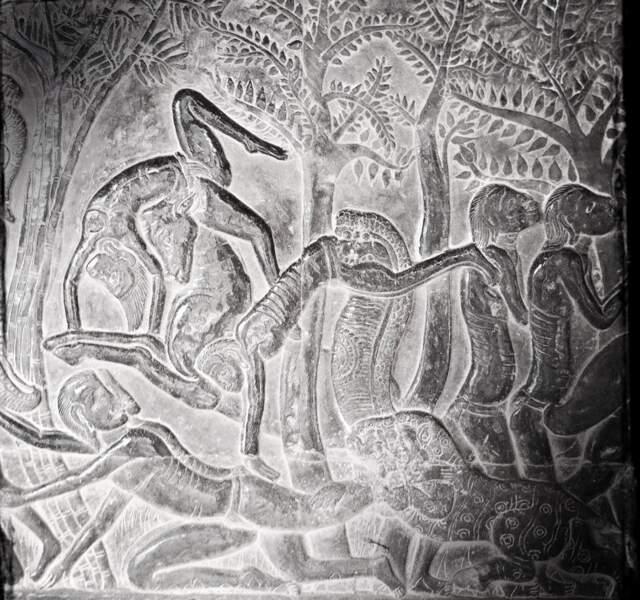 Bas-relief représentant les Enfers - Angkor Vat