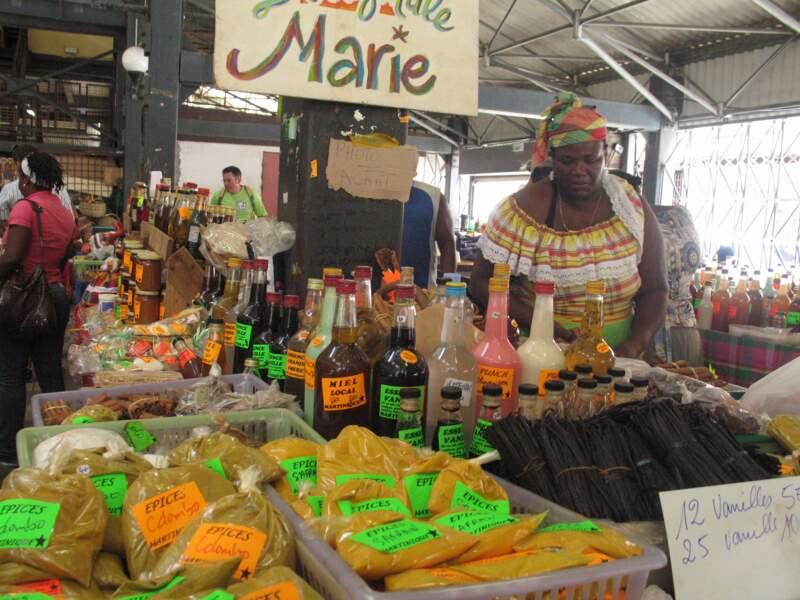 Le marché de Fort-de-France, capitale de la Martinique