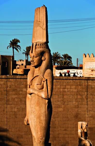 La reine Tiyi, mère du futur Akhenaton, se dresse dans la ville d'Akhmim