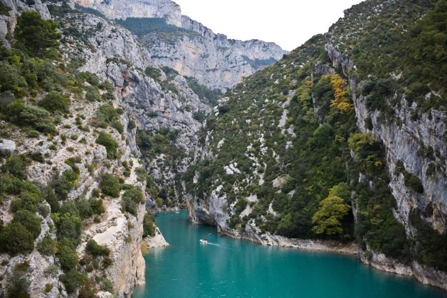 Les gorges du Verdon et ses eaux turquoise