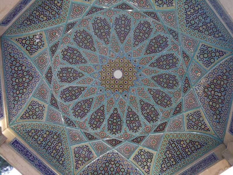Détail du mausolée du poète Hafez, à Shiraz
