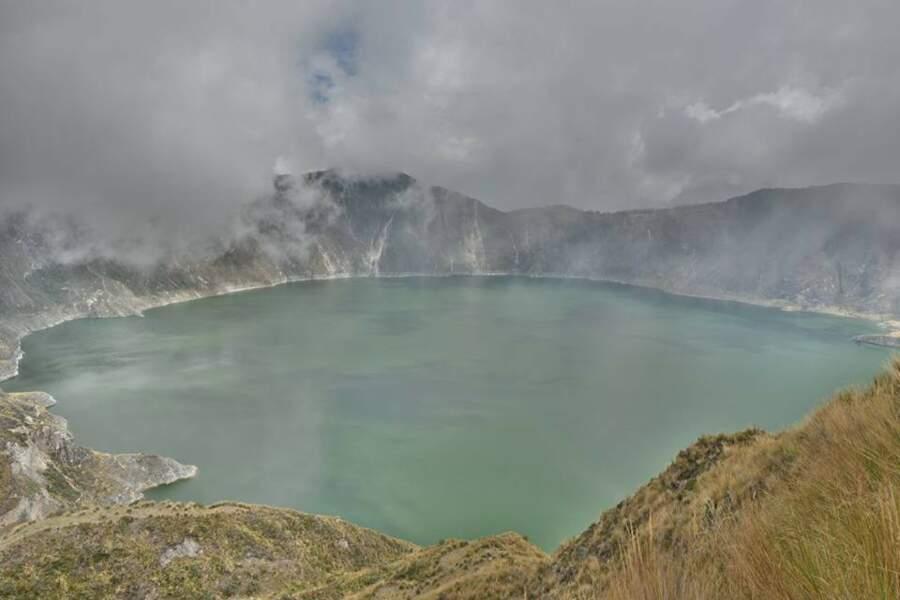 Lac du volcan Quilotoa en Equateur