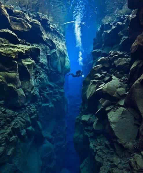 Plongée dans la faille de Silfra