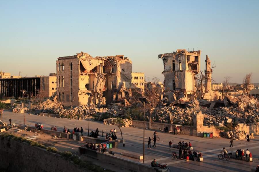Une ville dévastée