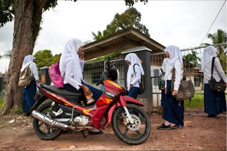 Ecolières musulmanes