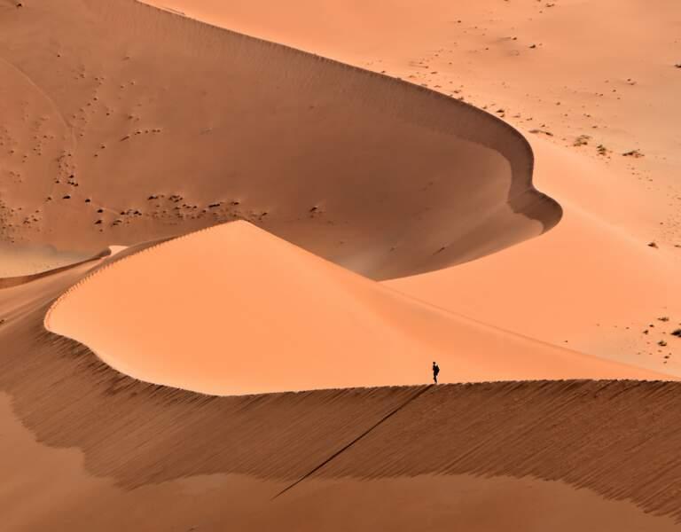 Dunes rouges du désert de Sossusvlei, en Namibie