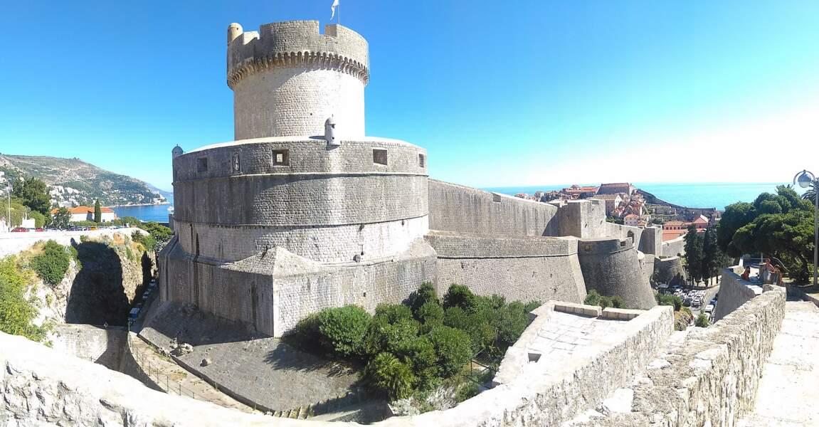 La tour Minčeta à Dubrovnik, en Croatie : l'hôtel des Nonmourants, à Qarth (the House of the Undying)