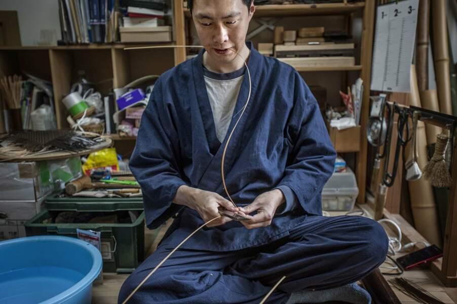 Hideaki Hosokawa, le plus jeune artisan de bambou de Kyoto