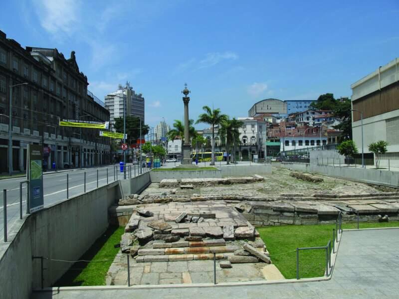 Site archéologique du quai de Valongo, au Brésil