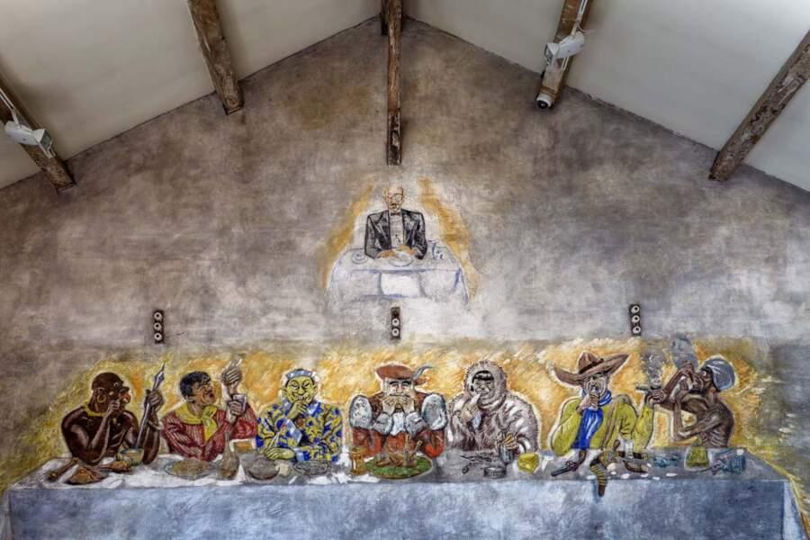 Le Camp des Milles, la salle des Peintures murales