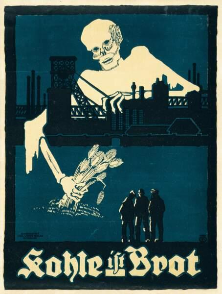 « Le charbon c'est du pain. » Artiste inconnu. 1918, Allemagne
