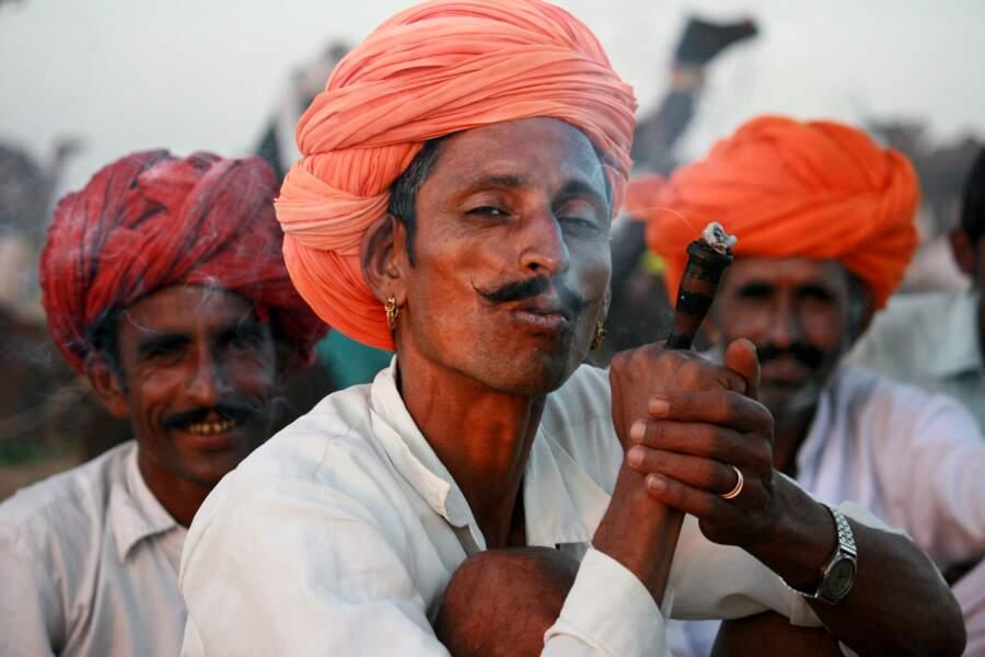 En Inde, à la foire aux chameaux