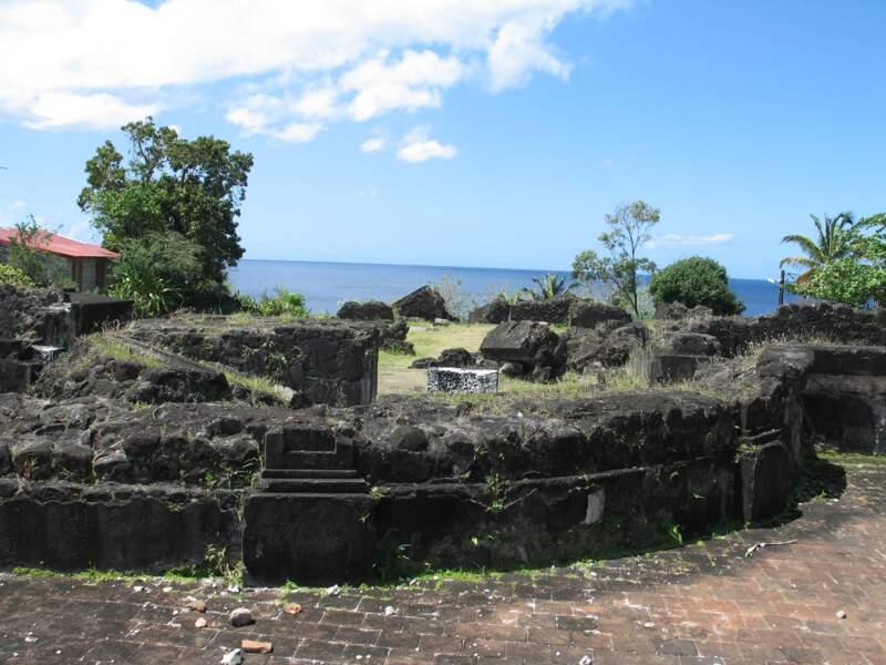 Les ruines de Saint-Pierre