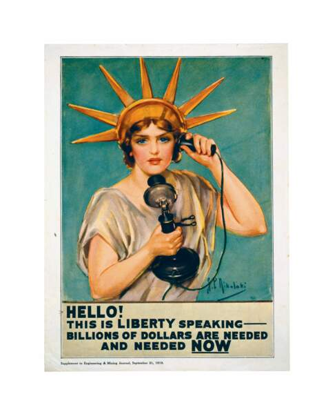 « Bonjour ! C'est la liberté qui vous parle, des milliards de dollars sont nécessaires et nécessaires maintenant. »