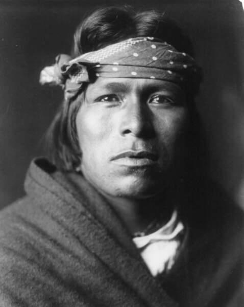 Un Indien de Pueblo Acoma, en 1905