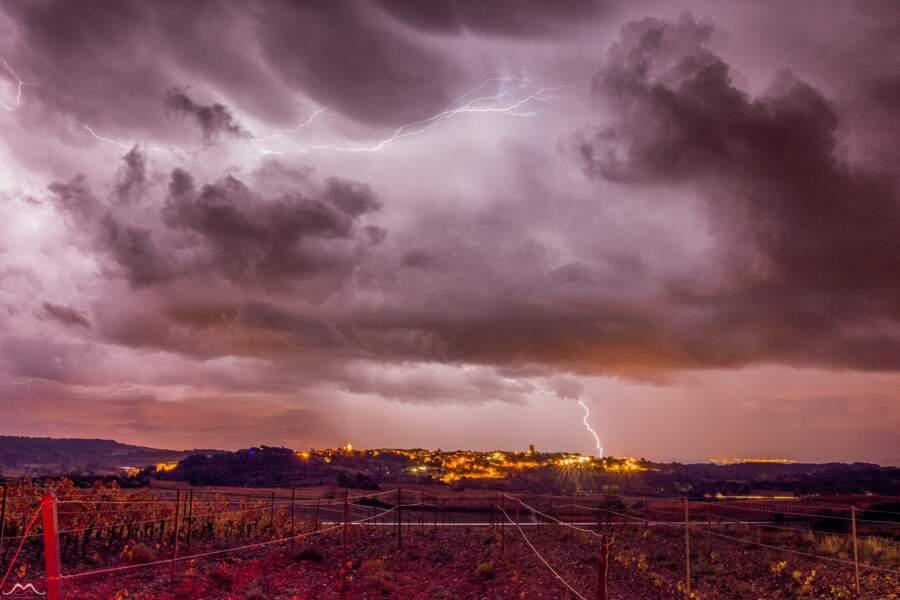 Le village de Quarante (Hérault) dans la nuit du 25 au 26 novembre 2016