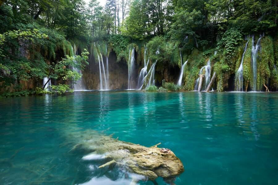 L'étonnant parc de Plitvice, en Croatie, composé de 16 lacs reliés entre eux par des chutes d'eau