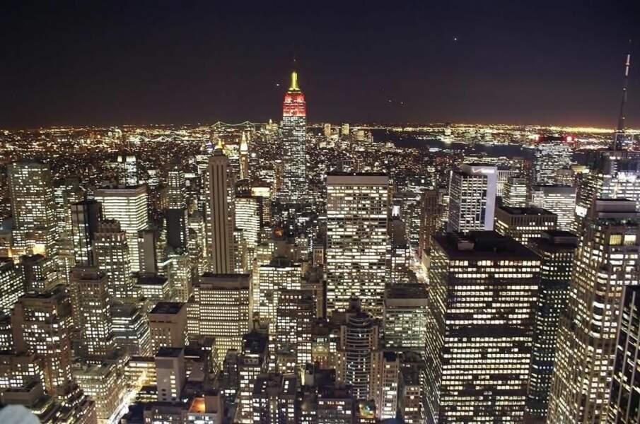 Photo prise depuis le sommet du GE Building, à New York (Etats-Unis) par le GEOnaute : gerald33260