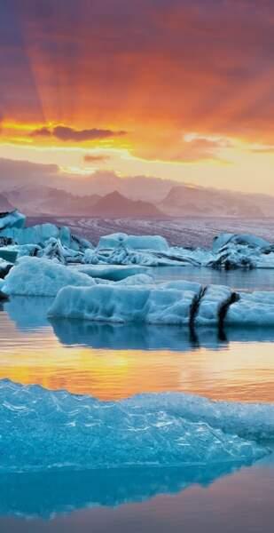 Le lac glaciaire Jökulsarlon