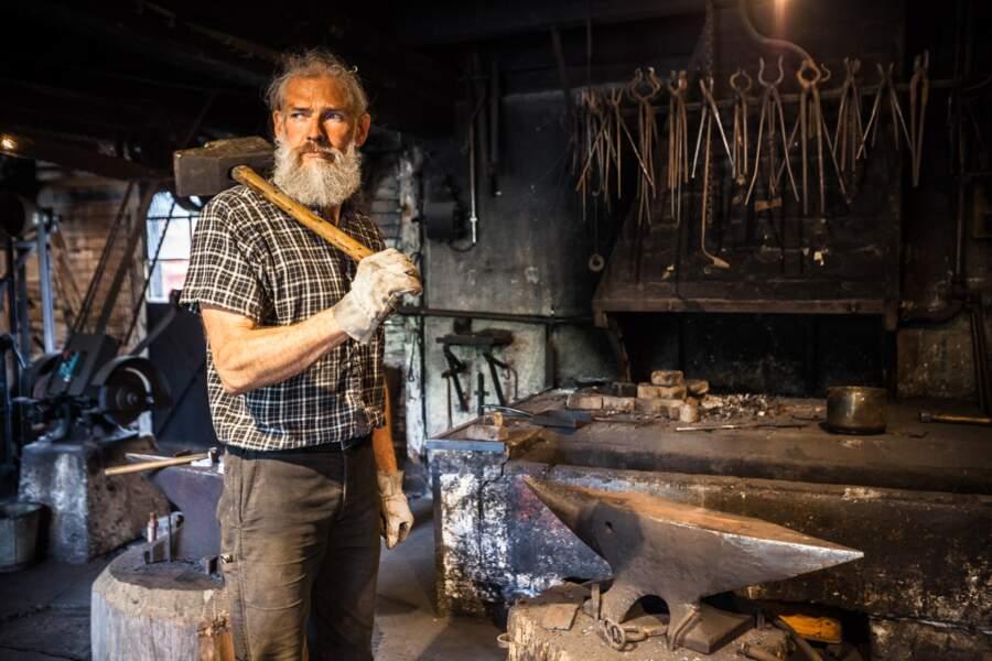Christophe Alix fait vivre la forge de l'Ecomusée d'Ungersheim
